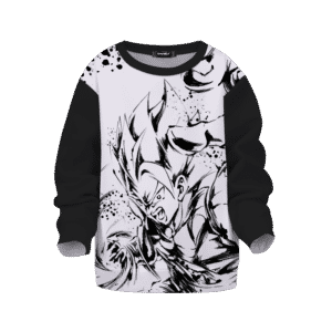 Dragon Ball Z Gogeta Artistic Anime Line Art Awesome Kids Sweatshirt