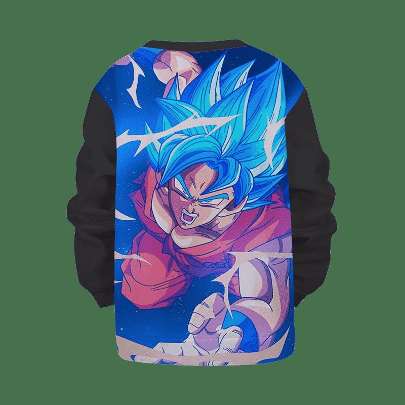 Dragon Ball Z Goku Blue Black Super Saiyan Kids Sweatshirt