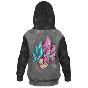 Dragon Ball Z Goku Blue Rose Hair Washed Kids Hoodie - back