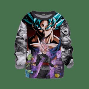 DBZ Goku Blue Zamasu Hit & Goku Black Cool Aura Kids Sweater