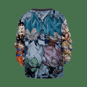 DBZ Goku Kakarot Chibi Comic Art Saiyan Children's Sweater