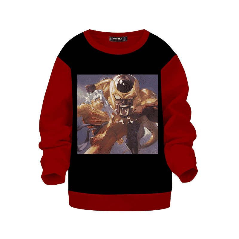 Dragon Ball Z Goku Blue Kicks Golden Frieza Kids Sweatshirt