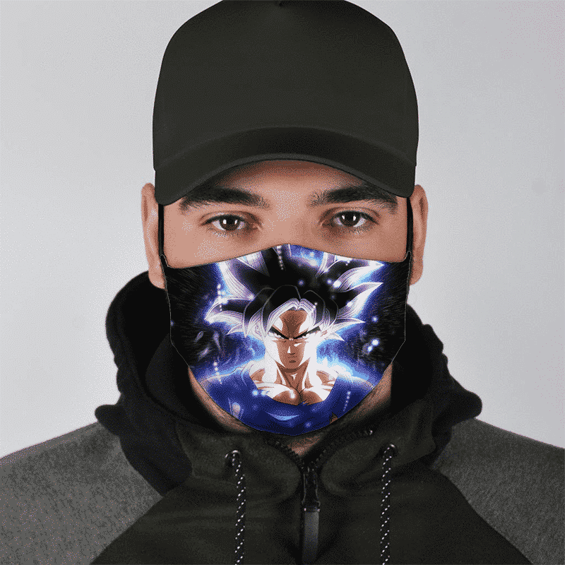 Dragon Ball Z Goku Ultra Instinct All Over Print Awesome Face Mask