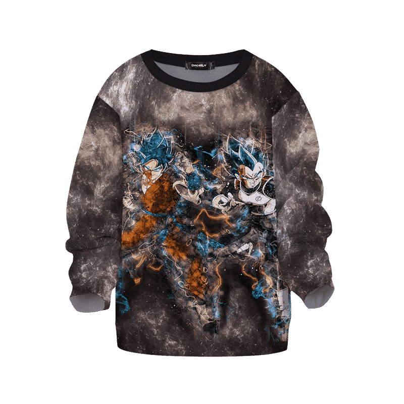 Dragon Ball Z Goku Vegeta God Fury Kids Sweatshirt