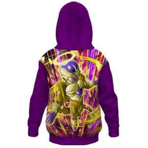 Dragon Ball Z Golden Frieza Awesome Art Kids Hoodie - back (1)