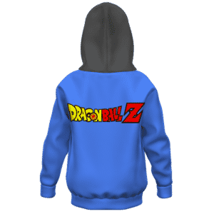 Dragon Ball Z Happy Winking Android 18 Kids Hoodie Back