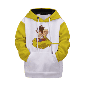 Dragon Ball Z Kid Goku Krillin on Flying Nimbus Kids Hoodie
