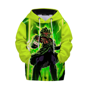 Dragon Ball Z Mad Broly Green Aura Cool Kids Hoodie