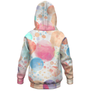 Dragon Ball Z Pan with Bee Colorful Happy Kids Hoodie - back