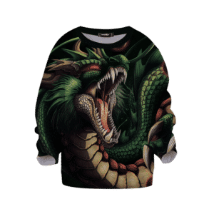 Dragon Ball Z Shenron Scary Awesome Dope Green Kids Sweatshirt