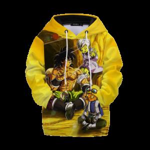 Dragon Ball Z Yellow Broly Vampa Cheelai Kids Hoodie