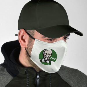 THC The High Club KFC Inspired Smoking Blunt Face Mask