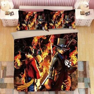 Fierce Luffy Ace And Sabo Solid Brotherhood Bedding Set
