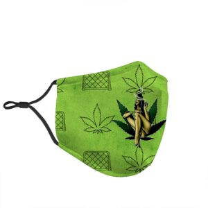 Girls Get Stoned Too Cannabis Themed Face Mask