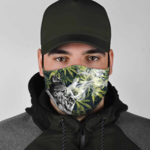 Grandpa Can Smoke Weed Everyday Marijuana Face Mask