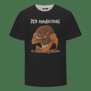 It's Medicinal Stoned Smoking Taurus Dope Black T-shirt