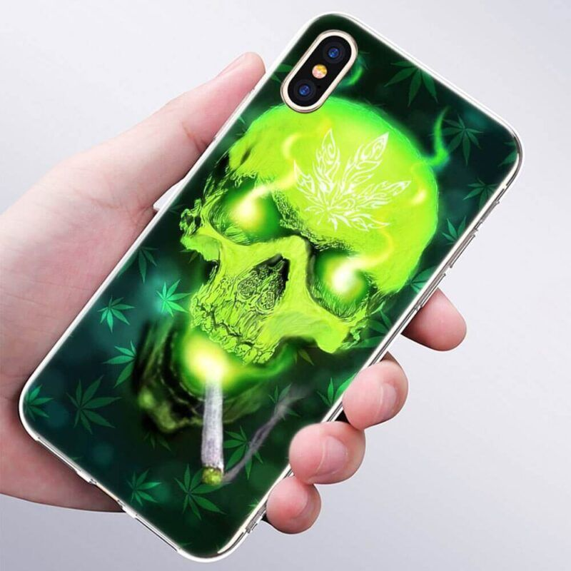 Lime Green Skull Smoking Joint IPhone 11 (Pro & Pro Max) Cases