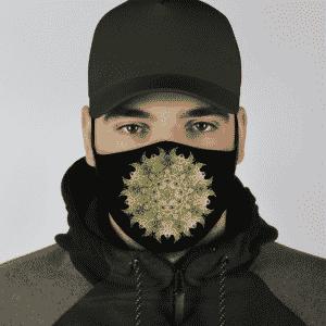 Marijuana Kush Mandala Trippy Green Awesome Face Mask