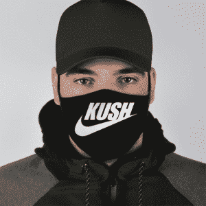 Marijuana Kush Weed Nike Logo Just Do It Black Cool Face Mask