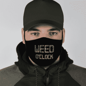 Marijuana Weed Oclock Minimalist Awesome Dope Face Mask