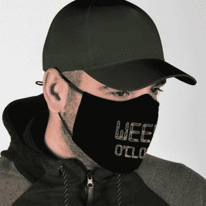 Marijuana Weed Oclock Minimalist Awesome Dope Face Mask