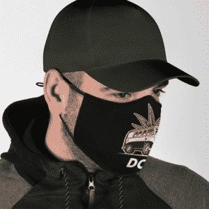 Marijuana Weed Van Dope Vector Stoner Cool Face Mask