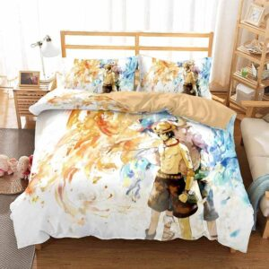 One Piece Fire Fist Ace And Marco The Phoenix Dope Bed Set