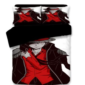 One Piece Monkey D. Luffy Serious Stare Dope Bedding Set