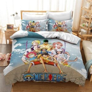One Piece Straw Hat Pirates First 7 Members Bedding Set