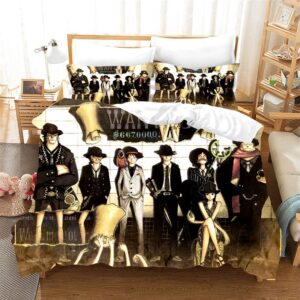 One Piece Straw Hat Pirates Most Wanted Shot Bedding Set