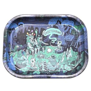 Psychedelic Ghost Shrimps Hitting 420 Joints Rolling Tray