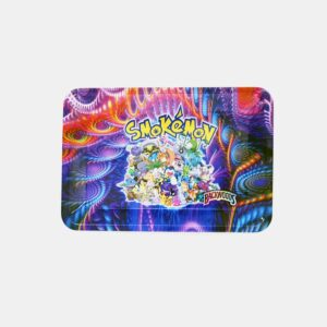 Psychedelic Smokemon Cannabis Characters Rolling Tray