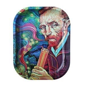 Psychedelic Vincent Van Gogh Smoking Bong Rolling tray