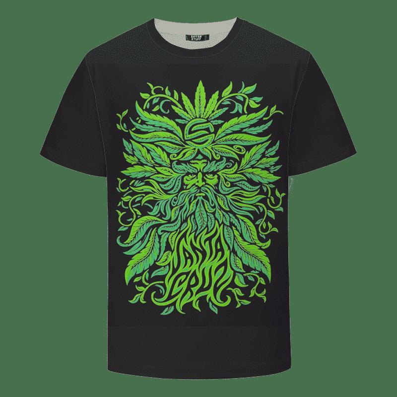 Santa Cruz Marijuana Dude Green Leafy Dope Black T-Shirt