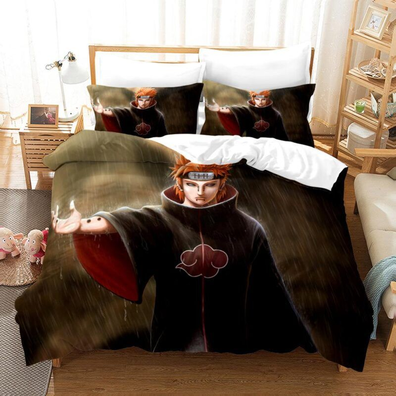 Six Paths Of Pain Nagato Dope Under The Rain Bedding Set