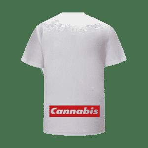 Tupac Shakur Portrait Supreme Parody White Cannabis T-Shirt