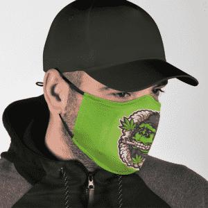 Stoner Gorilla Marijuana Vector Art Weed Green Cool Face Mask
