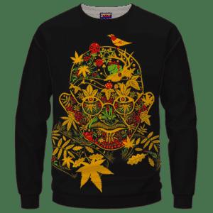 420 Art Mahatma Ganja Gandhi Dope Marijuana Crewneck Sweatshirt