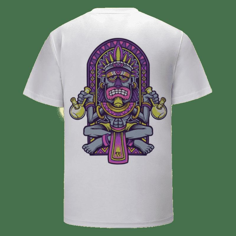 420 Aztec Stoner Bong Marijuana Weed Trippy White T-shirt