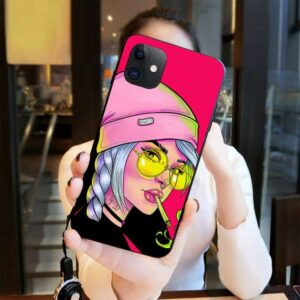 420 Cool Girl Smoking Marijuana Pink iPhone 12 Case