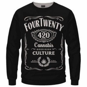 420 Wake And Bake Cannabis Kush Dope Cool Black Sweatshirt