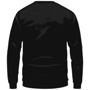420 Wake And Bake Cannabis Kush Dope Cool Black Sweatshirt - Back Mockup