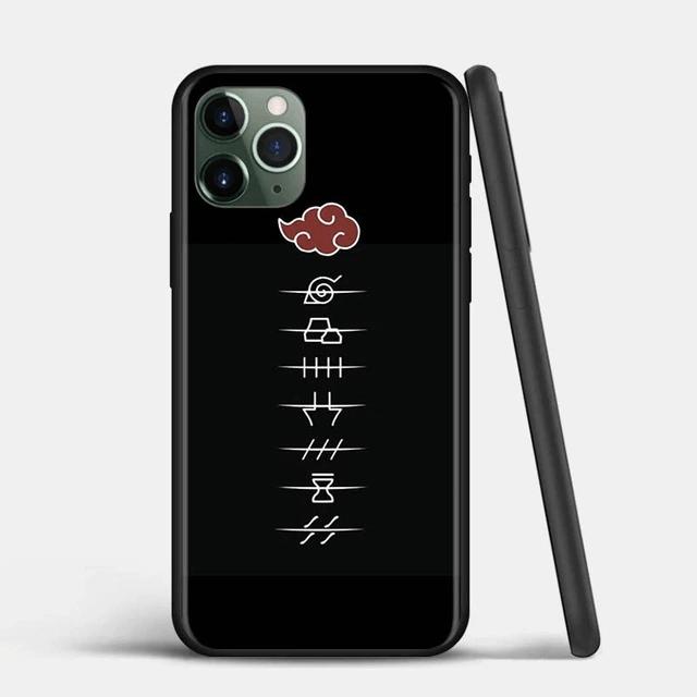 Akatsuki Members Village Symbols Black iPhone 12 Case