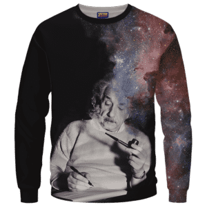 Albert Einstein Smoking Dope Galaxy 420 Marijuana Sweatshirt