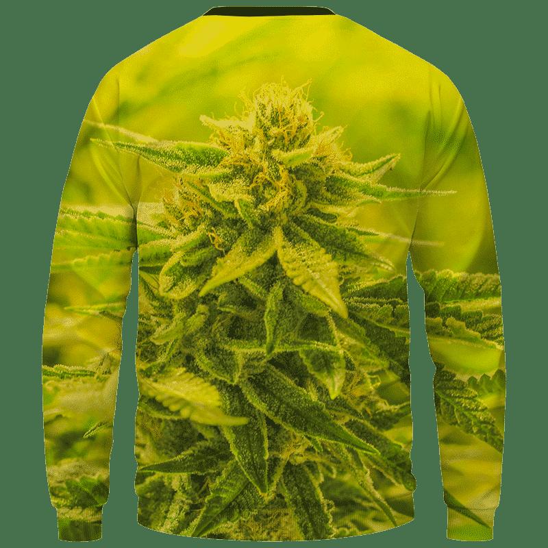 Amazing Marijuana Weed Top Bud Cola All Over Crewneck Sweatshirt