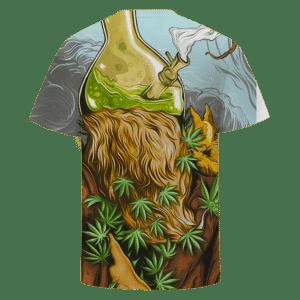 Bong Head Weed Marijuana Trippy Cool Vector Art T-shirt