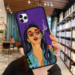 Cool Chick In 420 Vibes iPhone 12 (Mini, Pro & Pro Max) Case