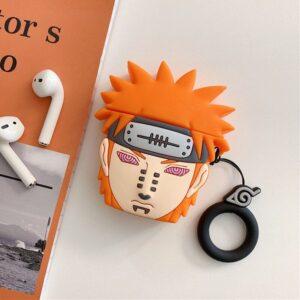 Cool Orange Akatsuki Pain Nagato Keychain Airpods Case