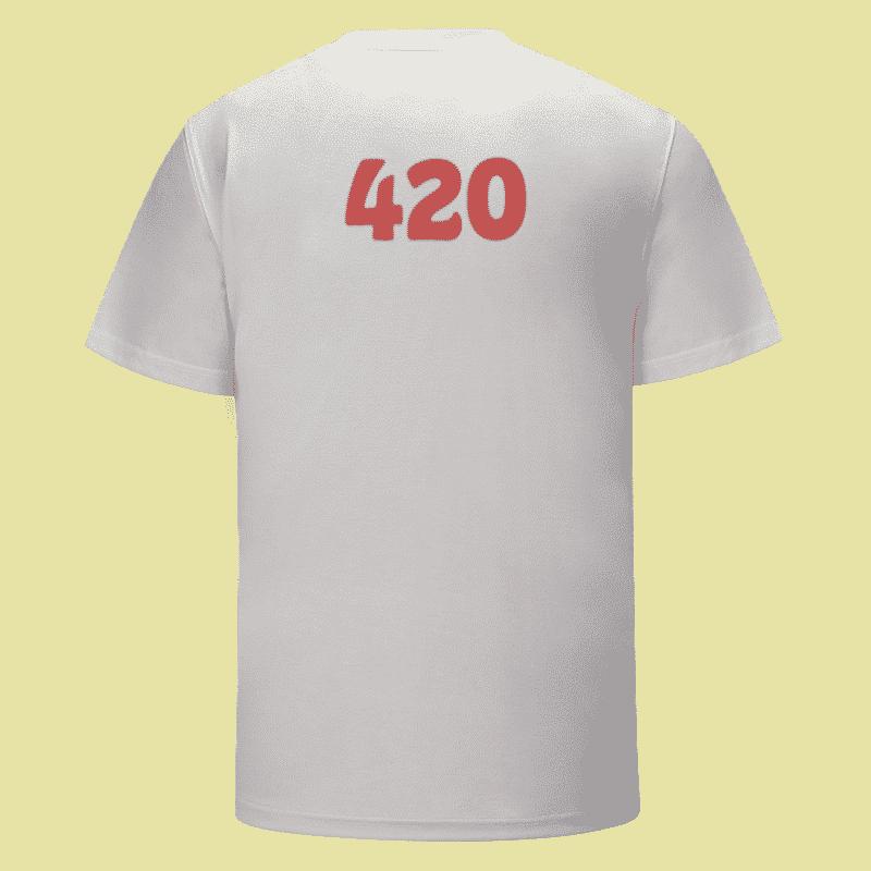 Cool Smoking Marijuana Bong Awesome 420 White T-shirt