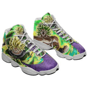 DBZ Broly Super Saiyan Collectors Item Basketball Shoes - Mockup 1